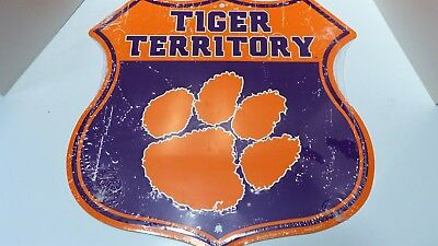 Clemson University Route Sign HangTime Tiger Territory
