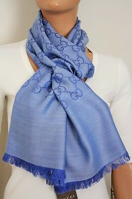 3e4929a45b92 Gucci 165904 Knit Scarf with Gg Jacquard Pattern 17 11 16x70 7 8in Wool
