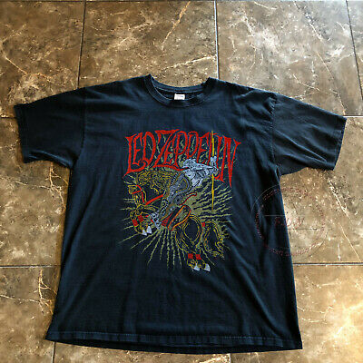 0941f9be Like us on Facebook · 90s Vintage Led Zeppelin Knight Rock Concert Tour  Unworn Tee T Shirt REPRINT