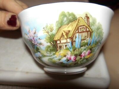 Royal Vale Country Cottage  Small  Sugar Bowl  Unboxed As Shown  2.5 X 4.5