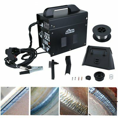 Gasless Mig Welder 100 New No Gas 120A amps More Expensive Non Live Torch DProT