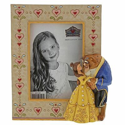 """Disney Traditions Beauty & The Beast Resin Photo Frame 3.5"""" x 5"""" Gift Boxed"""