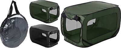 Large Portable Lightweight Pop Up Dog Pet Kennel House Travel Cage Puppy Cat Bed