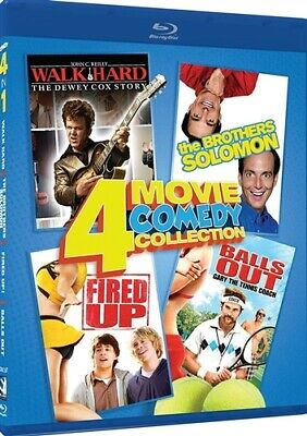 4 MOVIE COMEDY COLLECTION Blu-ray Walk Hard Brothers Solomon Fired Up Balls Out