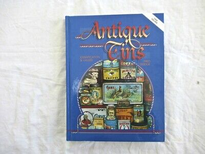 1999 Antique Tins Identification & Values Fred Dodge Hardcover