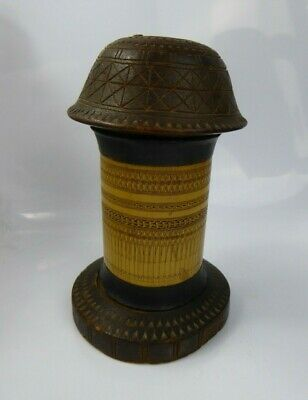 Indonesian Batak Bamboo Lime Box Container Etched Design Sumatra c19th/c20th