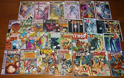 Lot of 31 Marvel Comics, 1960s-2000s: Thor, Spider-Man, Miracleman, Avengers