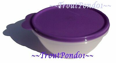 New TUPPERWARE Classic Wonderlier Nesting Mixing Bowl 3 C Small Grape Purple