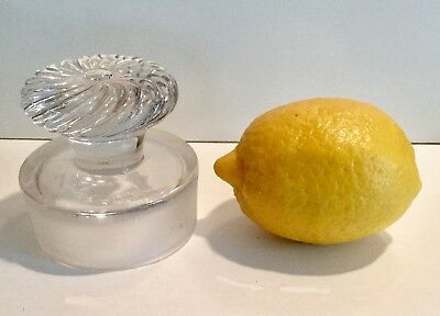 """Antique Lg 3""""EAPG Ball+Swirl Glass finial Apothecary Jar STOPPER ONLY lid candy"""