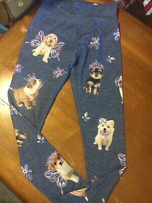 Justice Girls Sz 14 Stretch Leggings Active Puppy Dog Butterfly Easter Dance