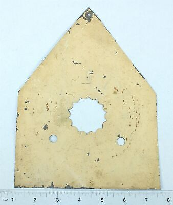 Antique Painted Metal Steeple Shaped Clock Dial- Sp586