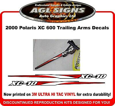 2000 POLARIS Indy XC 600 Reproduction XC-10 Trailing Arm Decal Kit