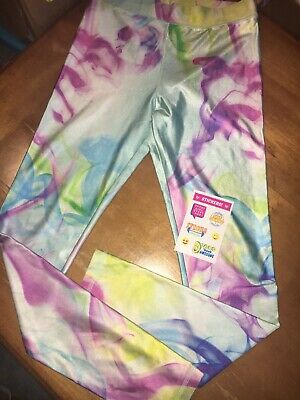 Justice Sz 14 Water Color Leggings Guc Pastel Easter Egg Dyed Spring Pink Blue