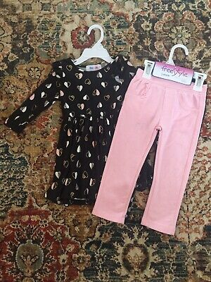 7205178b9b 2T Girl's Outfit With Extra Pair Of Pants Lot Of 3 NWT