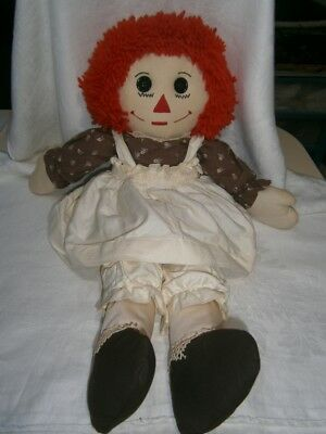 "Large  New  25""  Hand Made Raggety Ann Cloth Girl Doll"