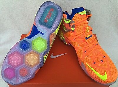 fd221c219ab9 Nike LeBron 12 XII Six Meridians 684593-870 King James Basketball Shoes  Men s 11