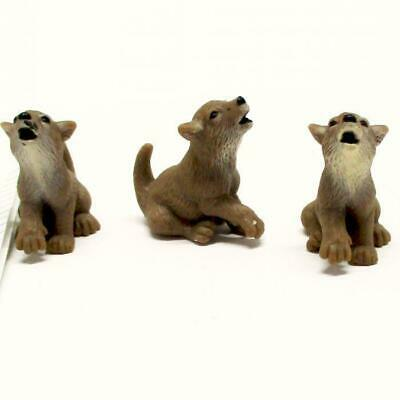 Dollhouse 3 Toy Wolf Pup Game Pcs 11140 Micro-mini Miniature