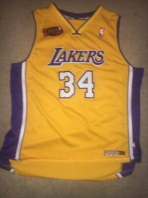 232cf95bea2b NBA Los Angeles Lakers Shaquille O Neal Vintage Champion Jersey Mens Large