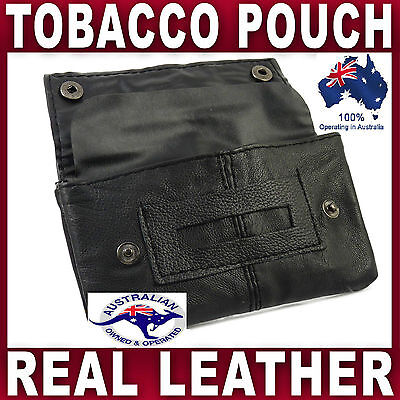 Real Grade Nappa Soft Leather Tobacco Pouch Smoke Cigarette Case  Filters Papers