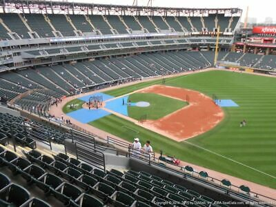 4 TICKETS CLEVELAND INDIANS @ CHICAGO WHITE SOX 5/13 *Sec 518 FRONT ROW AISLE*