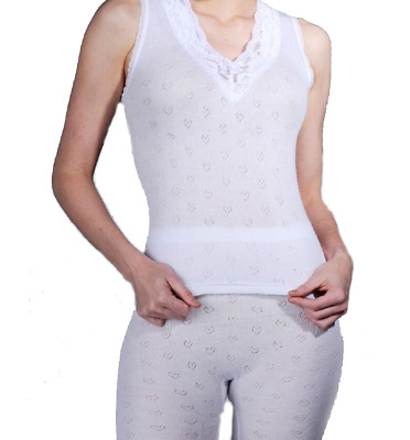 Delux Sleeveless Spencer Vests White Thermal From £2.99 Freepost