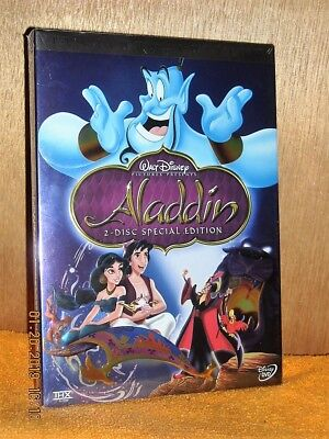 Aladdin (DVD, 2007, 2-Disc) NEW DISNEY Linda Larkin Robin Williams Scott Weinger