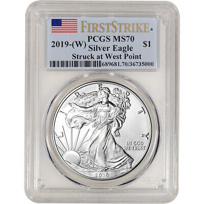 2019-(W) American Silver Eagle - PCGS MS70 - First Strike