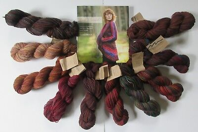 Coat of Many Colors Knitting Kit McIver Knit Swirl Book Mohair Wool Yarn
