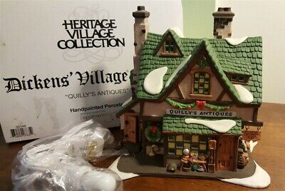 Dept 56 Dickens Village Series - 1996 QUILLY'S ANTIQUES 58348 RETIRED 1999