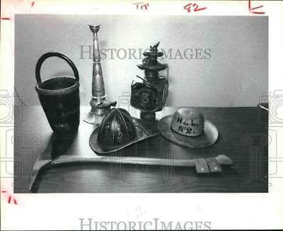 1981 Press Photo Fire Equipment Collection At The Harris Co. Heritage Society.