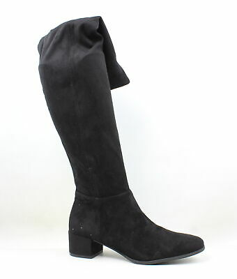 869a2ca9a24 CHINESE LAUNDRY WOMENS Benita Black Suede Fashion Boots Size 11 ...