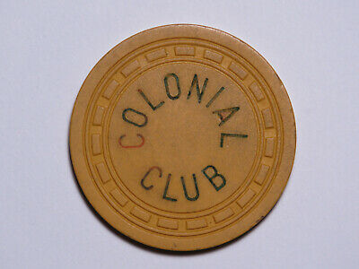 Colonial Club - Augusta Georgia - Illegal Casino Chip - RECTL