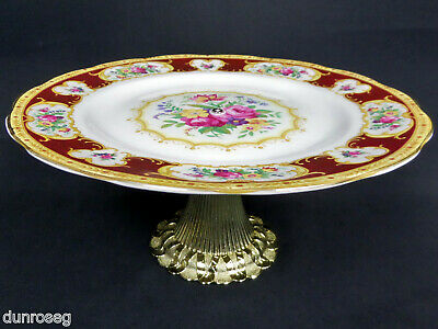 LADY HAMILTON CAKE STAND / COMPORT, 1st QLTY, VGC, NEW CENTRE POLE, ROYAL ALBERT