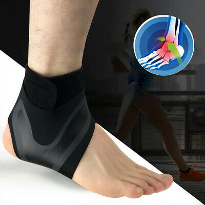 Fitness Ankle Adjustable Brace Foot Sprain Support Strap Guard Protector Black