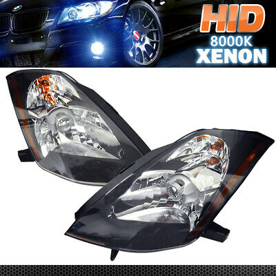 Fits For Xenon HID 03-06 Nissan 350Z Black Projector Head Lights