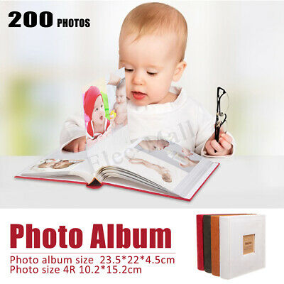 Large 6''x4'' Holds 200 Photos Slip In Memo Photo Album Family Memory  new US