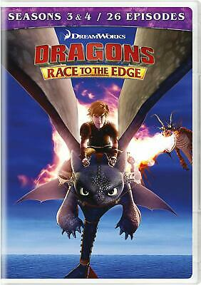 Dragons: Race to the Edge - Seasons 3 & 4 NR DVD discs 4 Subtitled BEST SELLING