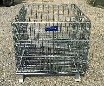 "Heavy Duty Wire Basket Collapsible, Stackable,  Front Drop Gate 48"" X 40"" X 36"""