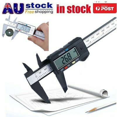 150mm 6inch Stainless Steel Electronic Digital LCD Vernier Caliper Micrometer