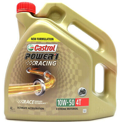 4 Liter Castrol Power 1 Racing 4T 10W-50 JASO MA2 API SL
