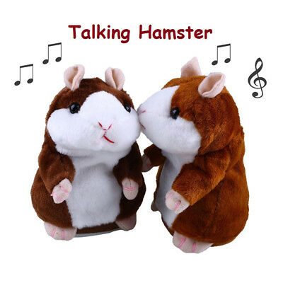 2018 Cheeky Hamster Talking Walking Nodding Sound Record Electric Toy Xmas Gift