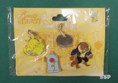 Disney Pin DLP - Beauty and the Beast Booster Set Belle Rose Beast Babette