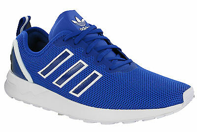 timeless design d5771 5422d Adidas ZX Flux ADV Trainers Running Sports Mesh Blue Mens Heel Cage S79007