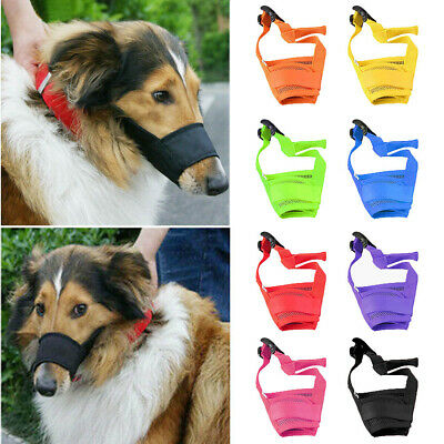 Pet Dog Adjustable Mask  Bark Bite Mesh Soft Mouth Muzzle Grooming Chew