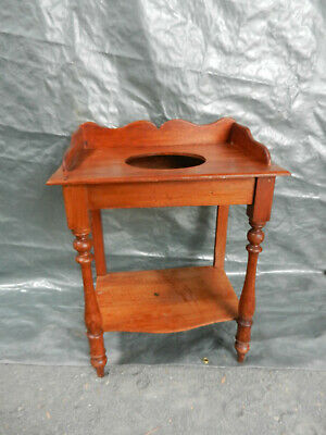 Small Antique Washstand circa 1920's to 1930's: Front Legs turned