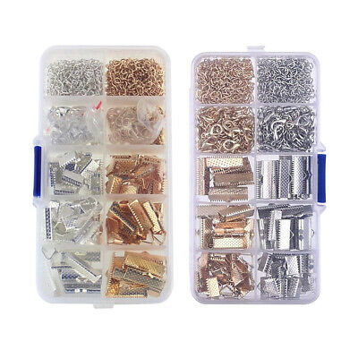 Jewellery Making Supplies with Lobster Clasps Jump Rings Ribbon Clamp Crimps