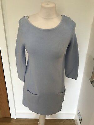 2c759faa2d6 Gorgeous COS Baby Blue 3 4 Sleeve Knitted Tunic Dress Size XS Good Condition