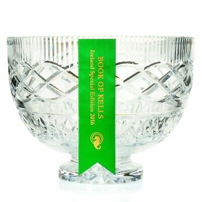 """Waterford Crystal Book of Kells 8.75"""" Hand-Crafted Irish-Cut Bowl (see notes)"""