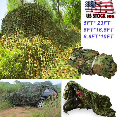 Woodland Camouflage Netting Military Army Camo Hunting Shooting Hide Cover Net C