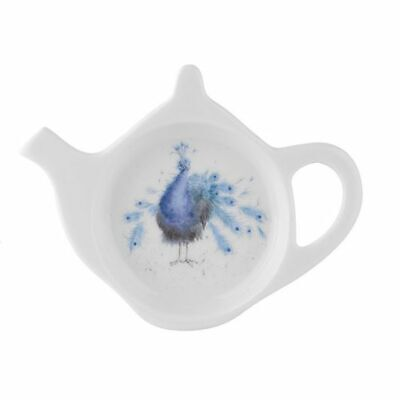 Wrendale By Royal Worcester - Teabag Tidy - Peacock